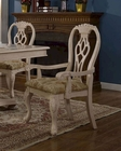 MCF Furnishings Cream Arm Chair MCFD9301-CA (Set of 2)