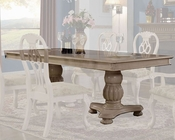 MCF Furnishings Cream Dining Table MCFD9301-T