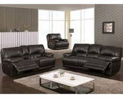 MCF Furniture Reclining Black Sofa Set MCFSF3609