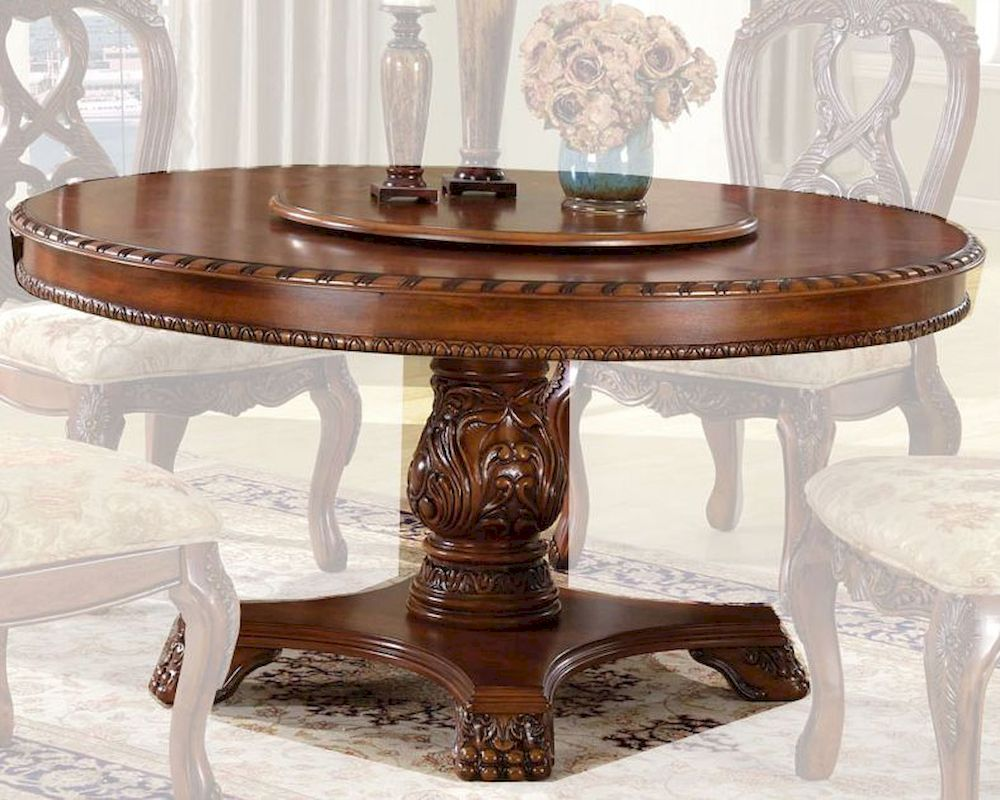 Mcf Furniture Round Antique Cherry Dining Table Mcfd6005 6060t