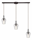 ELK Menlow Park  Collection 3 Light Chandelier in Oil Rubbed Bronze EK-60066-3L