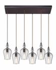 ELK Menlow Park  Collection 6 Light Chandelier in Oil Rubbed Bronze EK-60066-6RC