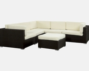 Merge Patio Sofa Set in Espresso White by Modway MY-EEI972EW
