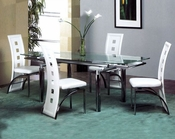 Metal Dining Set w/Glass Top OL-DT07s