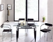 Metal Dining Set w/Glass Top OL-DT17s