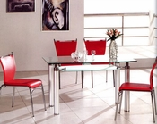 Metal Dining Set w/Glass Top OL-DT34s