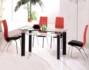 Metal Dining Set w/Glass Top OL-DT38s