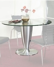 Metal Dining Table w/Glass Top OL-DT20