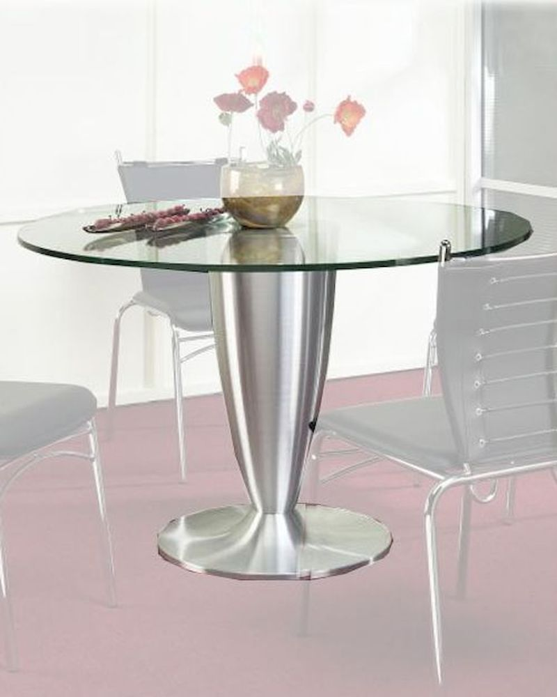 metal dining table w glass top ol dt20