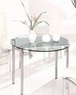Metal Dining Table w/Glass Top OL-DT92