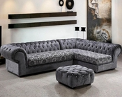Microfiber Contemporary Sectional Sofa Set 44L0669