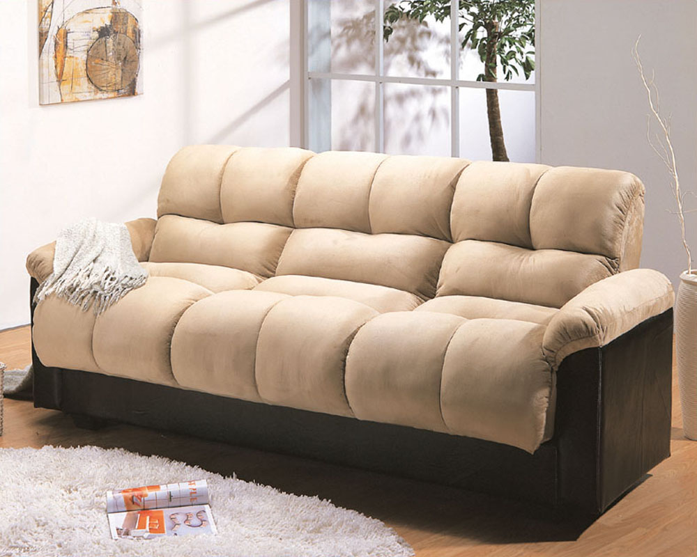 Microfiber Klik Klak Sofa With Storage