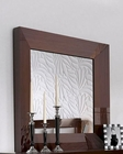 Single Dresser Mirror Modern Style in Walnut Carmen 33181CR