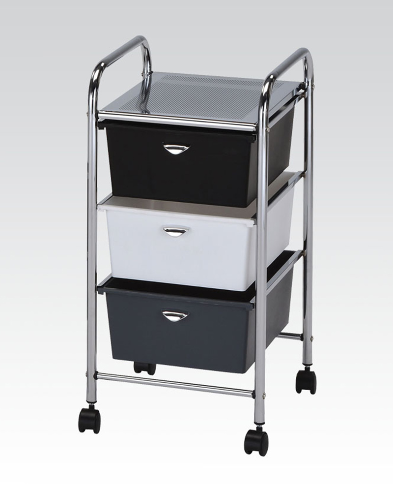 sc 1 st  Home Furniture Mart & Mobile Storage Cart w/ 3 Drawers by Acme Furniture AC92104