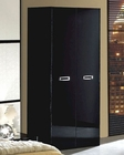 Modern 2 Door Wardrobe in Black Made in Italy 33B98