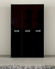 Modern 3 Door Wardrobe in Black Made in Italy 33B99