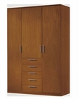 Modern 3 Door Wardrobe in Light Cherry Finish Made in Spain 33B2010