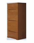Modern 6 Drawer Chest in Light Cherry Finish Made in Spain 33B208