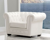 Modern Arm Chair Valencia in White Made in Spain 33B248