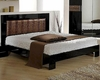 Modern Bed in Black/ Brown Finish Made in Italy 44B5112BB