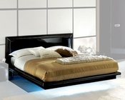 Modern Bed in Black Made in Italy 33B92