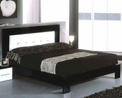 Modern Bed in Black/ White Finish Made in Italy 44B5112BW