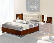 Modern Bed in Dark Cherry Finish Made in Italy 33B32