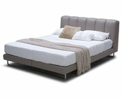 Modern Bed in Grey Leather 44B155BD
