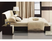 Modern Bed w/ Headboard Curved Design 44B1871BD