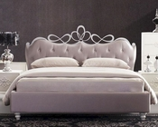 Modern Bed w/ Heart Shaped Headboard 44B186BD