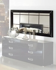 Modern Bedroom Mirror in Black Made in Italy 33B96