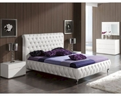 Modern Bedroom Set Agata in White Made in Spain 33B331