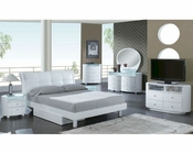 Modern Bedroom Set Elena in White 35B101