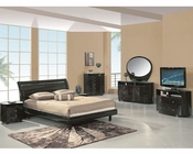 Modern Bedroom Set Elma in Wenge Finish 35B21