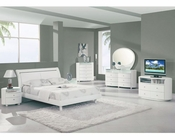 Modern Bedroom Set Elma in White 35B31