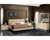 Modern Bedroom Set in Beige Finish Made in Italy 33B101