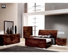 Modern Bedroom Set in High Gloss Walnut Finish 33B161