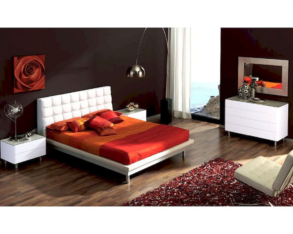 modern bedroom set in white made in spain 33b61