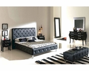 Modern Bedroom Set Natalia in Black Made in Spain 33B301