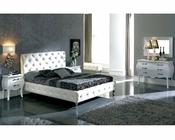 Modern Bedroom Set Natalia in White Made in Spain 33B311