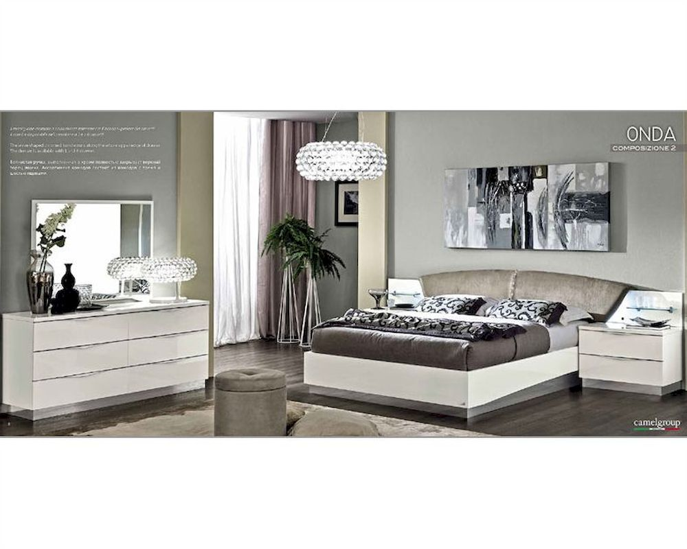 modern white bedroom set modern bedroom set onda in white color 3313on 16457