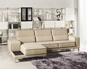 Modern Beige Fabric Sectional Sofa 44L6002