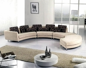 Modern Beige Fabric Sectional Sofa Set 44LA94F