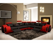 Modern Ultra Fine Leather Sectional Sofa 44L5960