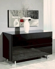 Modern Black Dresser and Mirror Made in Italy 44B4614B