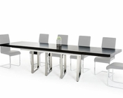 Modern Black Extendable Dining Table 44D2736XT