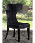 Modern Black Fabric Dining Chair 44DT0502