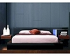 Modern Black Finish Bed with Night Stands Made in Italy 44B112B
