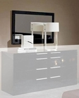 Modern Black Finish Frame Bedroom Mirror Made in Italy 44B116B
