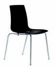 Modern Black Gloss Italian Dining Chair 44DPOP-BLK